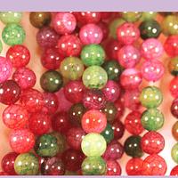 Agatas, Agata lisa de 6 mm, en multicolor, tira de 63 piedras aprox