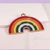 Dije esmaltado arcoíris, 31 x 20 mm, por unidad