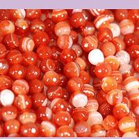 agatas, Agata en tonos naranjos, en 6 mm, tira de 62 piedras aprox