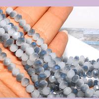 Cristal facetado en tono gris matizado de 6 mm, tira de 90 cristales aprox