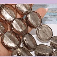 Vidrio hindu gris, 20 mm, 5 mm de grosor, set de 7 vidrios