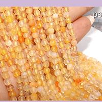 agatas en tonos amarillos y naranjas en 4 mm, tira de 90 piedras aprox