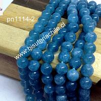 Jade azul 6 mm, tira de 60 piedras aprox.