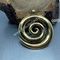 Colgante dorado 45 mm de diámetro, por unidad