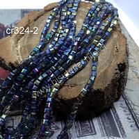 Cristal facetado  tornasol cuadrado, 3 mm, tira de 99 cristales aprox.