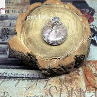 Colgante de rodonita, 27 mm de diámetro, por unidad