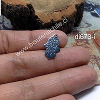 Dije mano de fátima de acero, 17 x 11 mm, por unidad