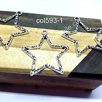 Colgante en forma de estrella, 35 x 35 mm, set de 3 unidades