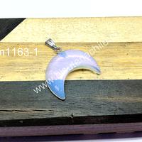 Colgante piedra luna, 25 x 19 mm, por unidad