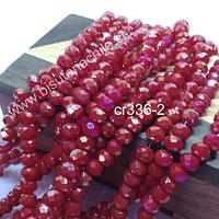 Cristal 6 mm rojo con tonalidades doradas, tira de 98 cristales aprox