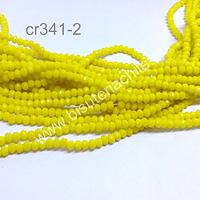 Cristal facetado color amarillo de 2 x 2 mm, tira de 190 cristales