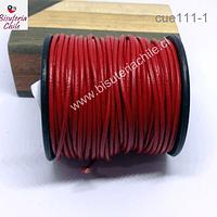 Cuero rojo delgado 1,8 mm de ancho, por metro