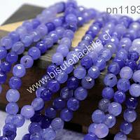 Agata facetada de 5 mm, en tonos lilas, tira de 64 piedras aprox