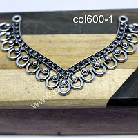 Colgante o base de aro plateada, 70 x 45 mm, por unidad