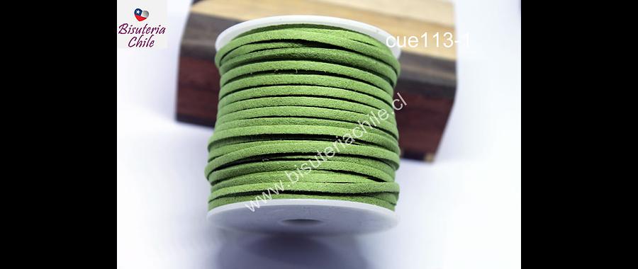 Gamuza 3 mm verde musgo, rollo de 30 metros