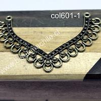 Colgante o base de aro dorada, 70 x 45 mm, por unidad