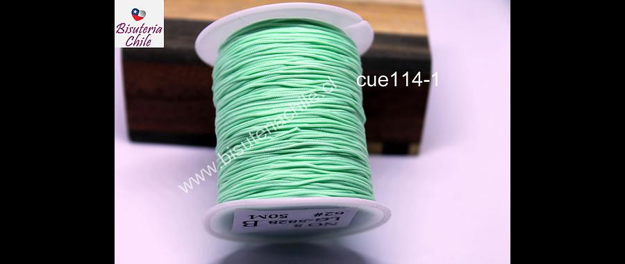 Tripolino de 0,5 mm color verde agua fuerte rollo de 50 metros