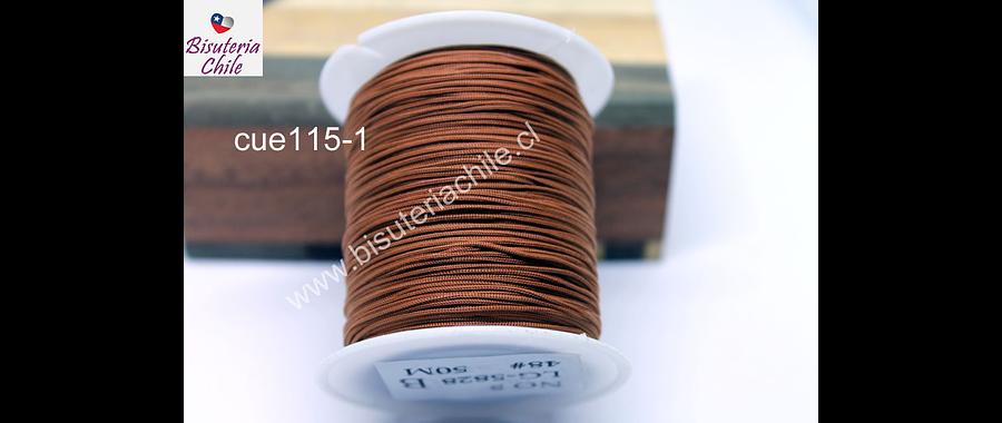 Tripolino de 0,5 mm color café fuerte rollo de 50 metros