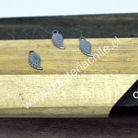 Dije de acero en forma de ala, 12 x 5 mm, set de 3 unidades