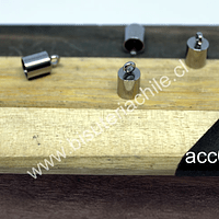 Terminal de acero, 12 x 6 mm, agujero de 5 mm, set de 4 unidades