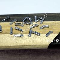Terminal de apriete en acero quirúrgico, 2 x 7 mm, set de 12 unidades