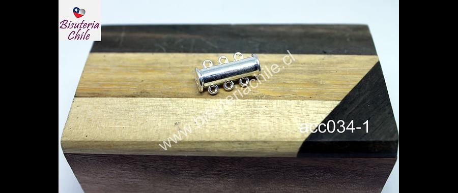 Cierre de pulsera triple con imán, 29 x 7 mm, por unidad