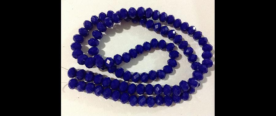Cristal chino facetado azul de 6 mm de diámetro por 5 mm de ancho tira de 98 unidades aprox