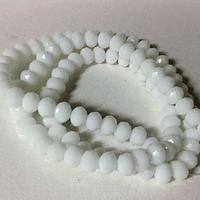 Cristal chino facetado blanco de 6 mm de diámetro por 5 mm de ancho tira de 100 unidades