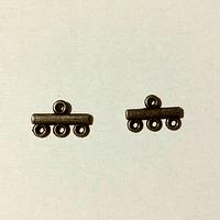 Extensor de 3 salidas envejecido 18 mm de ancho  set de 4 pares