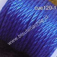 Hilos, Hilo trenzado 3 mm en color azul, rollo de 23 metros
