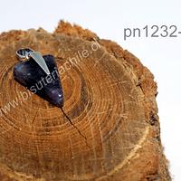 Dije de amatista en forma de punta de flecha, 25 mm de laargo x 16 mm de ancho, por unidad