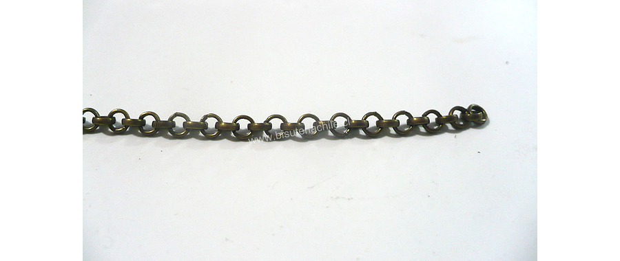 Cadenas, cadena envejecida eslabón de 2,5 mm de largo por 2,5 mm de ancho