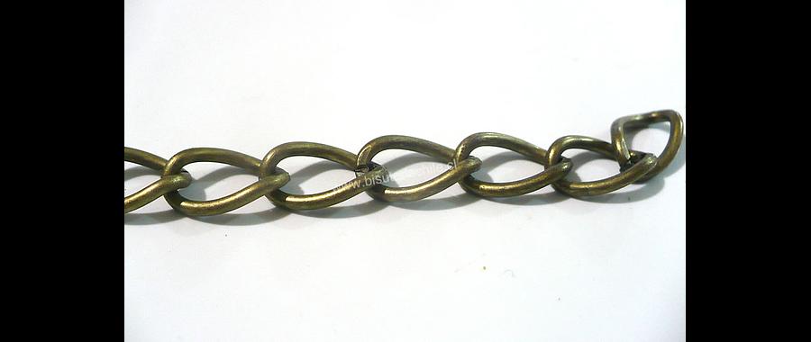 Cadena envejecida eslabón de 11 mm de largo por 8 mm de ancho