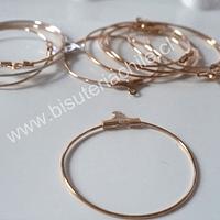 Base aro argolla dorada 40 mm de diámetro set de 5 pares