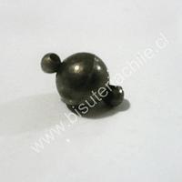 Broche imán  envejecido 13 mm con la únion y 8 mm de diámetro venta por unidad