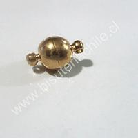 Broche iman dorado, 14 mm con la unión, 8 mm de diámetro, venta por unidad