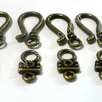 Broche tipo gancho envejecido 24 mm de largo y 10 mm de ancho set de 4 unidades