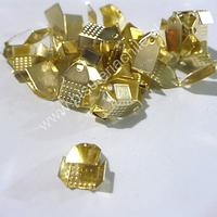 Terminal dorado 6 mm de ancho y 10 mmm de largo set de 24 unidades aprox