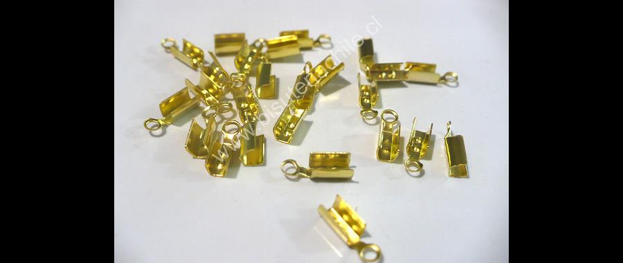 Terminal dorado 3 mm de ancho y 6 mmm de largo set de 24 unidades