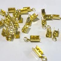 Terminal dorado 3 mm de ancho y 8 mmm de largo set de 24 unidades