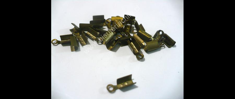 Terminal envejecido 3 mm de ancho y 8 mmm de largo set de 2 grs. (20 unidades aprox)