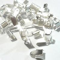 Terminal plateado 4 mm de ancho y 10 mmm de largo set de 24 unidades