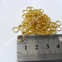 Argolla dorada n° 4, 8 mm de diámetro set de 25 grs