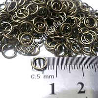 Argolla envejecida n° 3, 7 mm de diámetro set de 25 grs