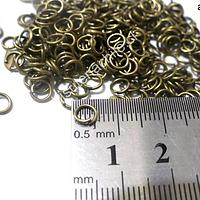 Argolla envejecida n° 2, de 6 mm de diámetro set de 25 grs