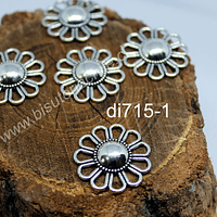 Dije en forma de flor, 24 mm de diámetro, set de 5 unidades