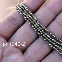 hematite facetada dorada de 2 mm, tira de 190 piedras aprox
