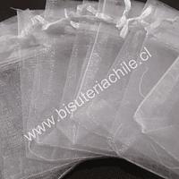 Bolsa de organza blanca, 10x14 , set de 10 unidades