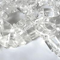 cuarzo cristal tira de 86 cm de largo, tamaño de la piedra mediana