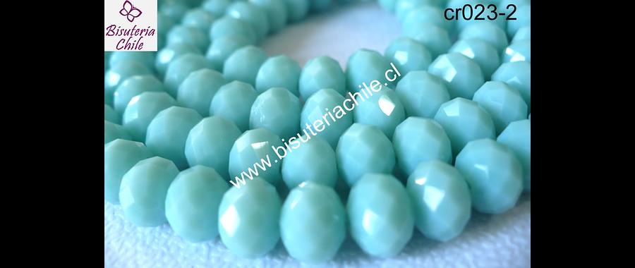 Cristal  jade   8 mm de ancho por x 6 mm 70 unidades